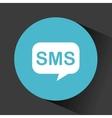sms speech bubble vector image
