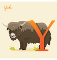 Animal alphabet with yak vector image