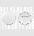 3d realistic metal or plastic blank button vector image vector image