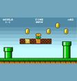 8 bit pixel art platformer game asset vector image