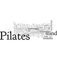 a pilates mind and body workout vector image vector image