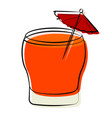 abstract delicious cocktail vector image