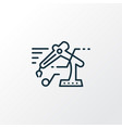 automated robotic arm icon line symbol premium vector image