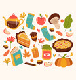 autumn hand drawn doodle modern style design vector image