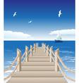 Beach Pier Background vector image vector image