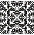 black and white abstract floral seamless pattern vector image vector image