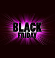 black friday sale background with red lights vector image vector image