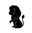 black lion silhouette vector image
