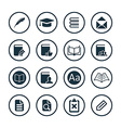 books icons universal set vector image vector image