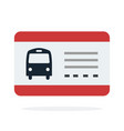 bus travel ticket flat material design isolated vector image