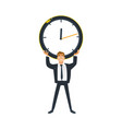 businessman and time concept - young office worker vector image vector image