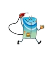 Cartoon bank credit card with gasoline nozzle vector image