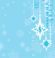 Christmas background with decorations vector image vector image