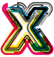 Colorful Grunge font LETTER x vector image vector image