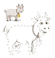 Connect the dots game goat vector image vector image