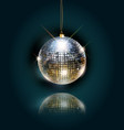 disco ball with bright rays vector image