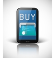 e-commerce concept with smartphone and credit card vector image vector image