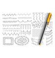 elegant patterns and lines doodle set vector image