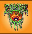 eye melt zombie vector image vector image