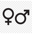 female and male gender arrow sign man and woman vector image vector image