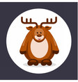 flat deer in circle vector image