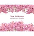 floral blossom card frame spring summer delicate vector image vector image