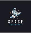 fun explorer space astronaut mascot logo icon vector image vector image