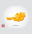 geometric polygonal style map of austria low poly vector image vector image