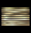 gold gradient set shiny elegant golden vector image vector image