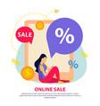 great sale flat brochure vector image