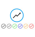 growth trend chart rounded icon vector image