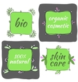 hand drawn organic icons vector image vector image