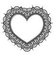 Heart Mehndi design Indian Henna tattoo pattern vector image