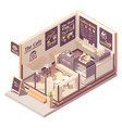 isometric small coffeehouse vector image vector image