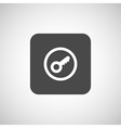 Key icon Flat design style vector image