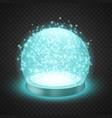 magic snow globe vector image