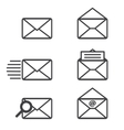 Mail icons graphics vector image