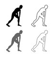man doing exercises for warm up sport action male vector image vector image
