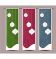 Merry Christmas banners set design vector image vector image