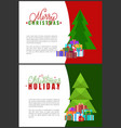 merry christmas holidays wishes lettering greeting vector image