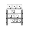 metallic shelf isolated vector image
