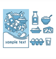 milk collection vector image