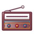 modern radio icon cartoon style vector image