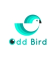 modern simple bird logo vector image