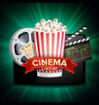 online cinema banner with tablet cinema vector image vector image