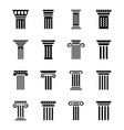 pillar art icons vector image vector image