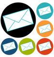 postal envelope icon vector image vector image