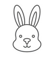rabbit thin line icon hare and animal bunny sign vector image vector image