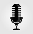 retro vintage microphone icon vector image