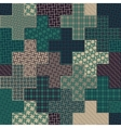 Seamless Cross Quilt Patchwork Pattern In vector image